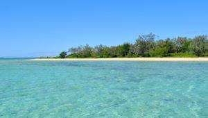 La plage de l'îlot Uo dans le lagon sud